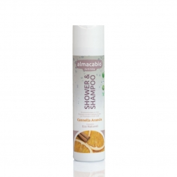 Šampon tělový a vlasový SKOŘICE + POMERANČ 250 ml ALMACABIO